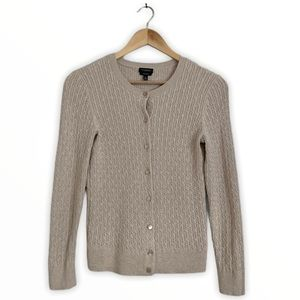 Talbots | Cotton Cable Knit Button Up Cardigan | S